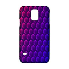 Hexagon Widescreen Purple Pink Samsung Galaxy S5 Hardshell Case