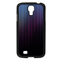 Moonlight Light Line Vertical Blue Black Samsung Galaxy S4 I9500/ I9505 Case (Black)