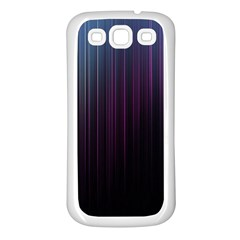 Moonlight Light Line Vertical Blue Black Samsung Galaxy S3 Back Case (white)