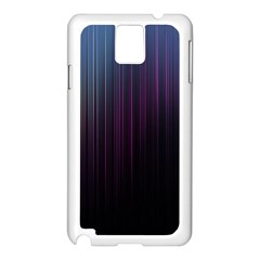 Moonlight Light Line Vertical Blue Black Samsung Galaxy Note 3 N9005 Case (White)