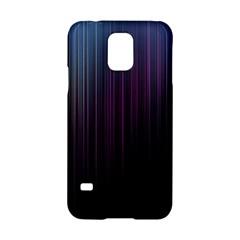 Moonlight Light Line Vertical Blue Black Samsung Galaxy S5 Hardshell Case