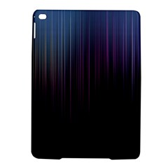 Moonlight Light Line Vertical Blue Black iPad Air 2 Hardshell Cases
