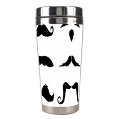 Mustache Man Black Hair Style Stainless Steel Travel Tumblers
