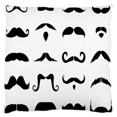 Mustache Man Black Hair Style Large Flano Cushion Case (Two Sides)