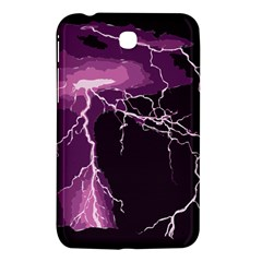 Lightning Pink Sky Rain Purple Light Samsung Galaxy Tab 3 (7 ) P3200 Hardshell Case