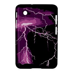 Lightning Pink Sky Rain Purple Light Samsung Galaxy Tab 2 (7 ) P3100 Hardshell Case