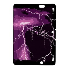 Lightning Pink Sky Rain Purple Light Kindle Fire HDX 8.9  Hardshell Case