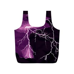 Lightning Pink Sky Rain Purple Light Full Print Recycle Bags (S)