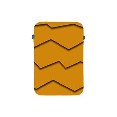 Orange Shades Wave Chevron Line Apple iPad Mini Protective Soft Cases