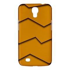 Orange Shades Wave Chevron Line Samsung Galaxy Mega 6.3  I9200 Hardshell Case