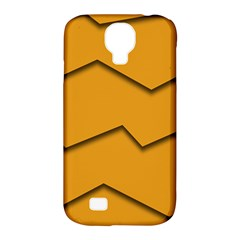 Orange Shades Wave Chevron Line Samsung Galaxy S4 Classic Hardshell Case (pc+silicone)