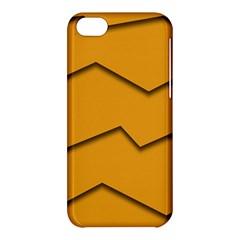 Orange Shades Wave Chevron Line Apple iPhone 5C Hardshell Case