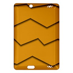 Orange Shades Wave Chevron Line Amazon Kindle Fire HD (2013) Hardshell Case