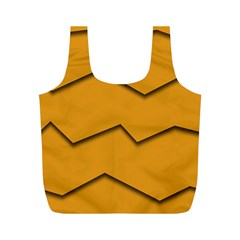 Orange Shades Wave Chevron Line Full Print Recycle Bags (M)