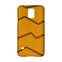 Orange Shades Wave Chevron Line Samsung Galaxy S5 Hardshell Case