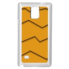 Orange Shades Wave Chevron Line Samsung Galaxy Note 4 Case (white)