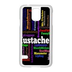 Mustache Samsung Galaxy S5 Case (White)