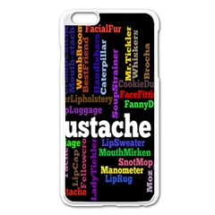 Mustache Apple iPhone 6 Plus/6S Plus Enamel White Case