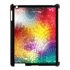 Multi Colour Alpha Apple Ipad 3/4 Case (black)