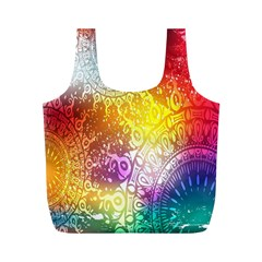 Multi Colour Alpha Full Print Recycle Bags (M)