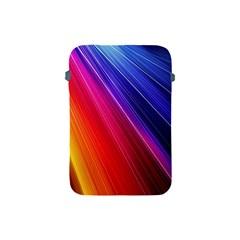 Multicolor Light Beam Line Rainbow Red Blue Orange Gold Purple Pink Apple iPad Mini Protective Soft Cases