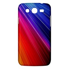 Multicolor Light Beam Line Rainbow Red Blue Orange Gold Purple Pink Samsung Galaxy Mega 5.8 I9152 Hardshell Case
