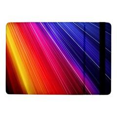 Multicolor Light Beam Line Rainbow Red Blue Orange Gold Purple Pink Samsung Galaxy Tab Pro 10.1  Flip Case