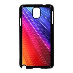 Multicolor Light Beam Line Rainbow Red Blue Orange Gold Purple Pink Samsung Galaxy Note 3 Neo Hardshell Case (Black)