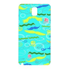 Mustache Jellyfish Blue Water Sea Beack Swim Blue Samsung Galaxy Note 3 N9005 Hardshell Back Case