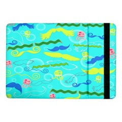 Mustache Jellyfish Blue Water Sea Beack Swim Blue Samsung Galaxy Tab Pro 10.1  Flip Case