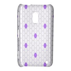 Purple White Hexagon Dots Nokia Lumia 620