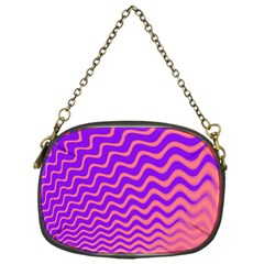 Original Resolution Wave Waves Chevron Pink Purple Chain Purses (one Side)