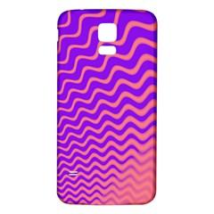 Original Resolution Wave Waves Chevron Pink Purple Samsung Galaxy S5 Back Case (White)