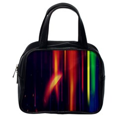 Perfection Graphic Colorful Lines Classic Handbags (one Side)