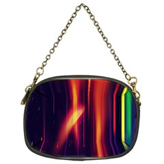 Perfection Graphic Colorful Lines Chain Purses (one Side)