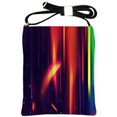 Perfection Graphic Colorful Lines Shoulder Sling Bags