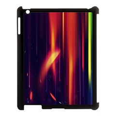 Perfection Graphic Colorful Lines Apple Ipad 3/4 Case (black)