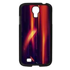 Perfection Graphic Colorful Lines Samsung Galaxy S4 I9500/ I9505 Case (Black)