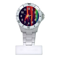 Perfection Graphic Colorful Lines Plastic Nurses Watch