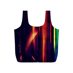Perfection Graphic Colorful Lines Full Print Recycle Bags (S)