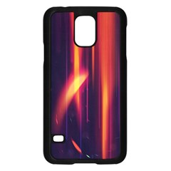 Perfection Graphic Colorful Lines Samsung Galaxy S5 Case (Black)