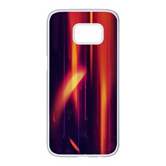 Perfection Graphic Colorful Lines Samsung Galaxy S7 Edge White Seamless Case