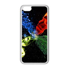 Perfect Amoled Screens Fire Water Leaf Sun Apple iPhone 5C Seamless Case (White)