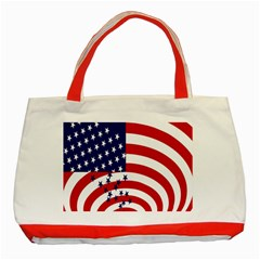 Star Line Hole Red Blue Classic Tote Bag (red)