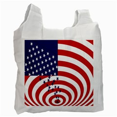 Star Line Hole Red Blue Recycle Bag (one Side)