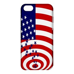 Star Line Hole Red Blue Apple iPhone 5C Hardshell Case