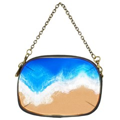 Sand Beach Water Sea Blue Brown Waves Wave Chain Purses (one Side)
