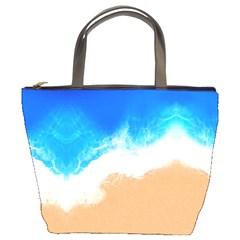 Sand Beach Water Sea Blue Brown Waves Wave Bucket Bags