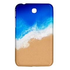Sand Beach Water Sea Blue Brown Waves Wave Samsung Galaxy Tab 3 (7 ) P3200 Hardshell Case