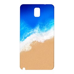 Sand Beach Water Sea Blue Brown Waves Wave Samsung Galaxy Note 3 N9005 Hardshell Back Case
